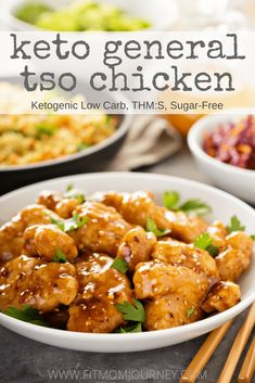 This recipe for Keto General Tso's Chicken tastes just as good - if not better - than the stuff you get from takeout. They're low carb, ketogenic, gluten free, sugar free, and a THM:S!