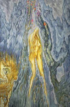 "Saatchi Art Artist: Noël Sactu; Oil Painting ""The Expulsion from Paradise"""