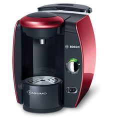 Bosch Tassimo Glamour Red Single-Serve Coffee Brewer