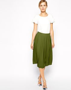 Image 1 of ASOS Knife Pleat Midi Skirt