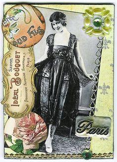 Nostalgic Collage': ATC - Perfumed Paris