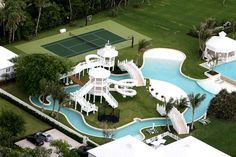 If I'm ever as filthy rich as Celine Dion, I will also have a backyard water park!