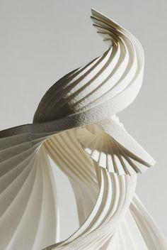 Folded Book Art, Book Folding, Sculpture Art, Paper Sculptures, Textile Artists, Shapes And Curves, Installation Art, Balmain, Paper Art