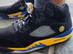 """Shanghai Shen"" Air Jordan 5 - SneakerNews.com"