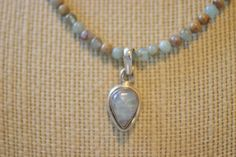 Aqua Terra Jasper and Moonstone Necklace by allysbaubles on Etsy