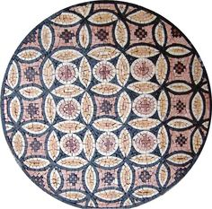Cathay Marble Stone Mosaic Medallion - Flower Of Life Mosaic - Mosaic Patterns - Mosaic Designs - Mosaic Wall Art - Mosaic Table Top - Medallion | #Mozaico