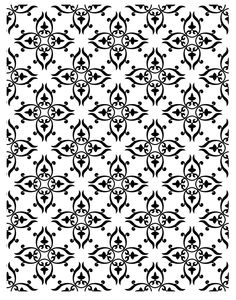 Victorian Pattern Panel - Rubber Stamps