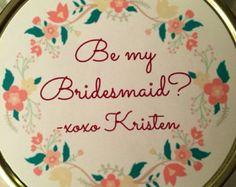 Be My Bridesmaid Candle, Mason Jar, Soy, Customized, Handmade Bridesmaid Candles, Bridesmaid Favors, Bridesmaid Proposal, Personalized Candles, Handmade Candles, Stand By You, Will You Be My Bridesmaid, Maid Of Honor, Mason Jars
