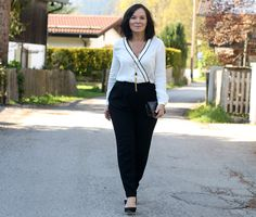 Effortless styling of a black and white jumpsuit | Lady of Style