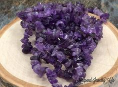Amethyst Chip Beads Natural Amethyst Beads  by MillpondJewelryCo