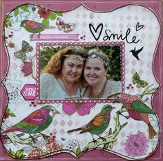 A layout by Kelly-ann Oosterbeek, made using the Fly Free Collection from Kaisercraft. www.amothersart.com