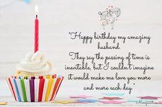 Romantic Birthday Wishes, Birthday Wishes And Images, Birthday Wishes Quotes, Birthday Messages, Happy Birthday Husband Romantic, Birthday Verses, Wishes Images, Birthday Message For Husband, Wishes For Husband