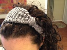 really easy cinched knitted headband