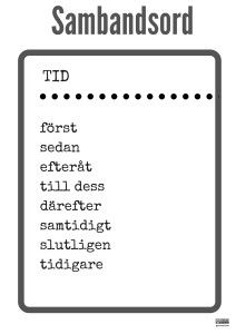 tid Teaching Genre, Teaching Activities, Teaching Reading, Linking Words, Learn Swedish, Swedish Language, Classroom Pictures, Creative Writing Tips, Learning Support