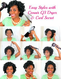 Easy Holiday Hair Style with the Conair® Curl Secret™ and Pro Q3™ Dryer from @veepeejay. #HeartMyHair #ad