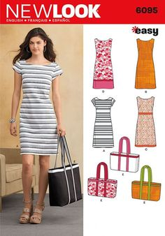 Simplicity New Look 6095 Misses' Dress Sewing Pattern More