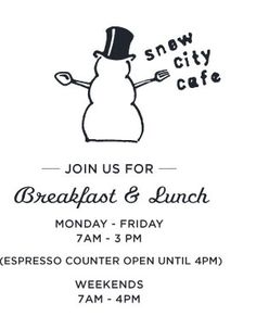 Our favorite place for breakfast in Anchorage, Alaska - The Snow City Cafe!!!