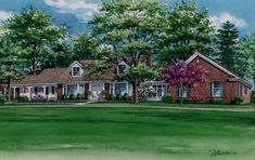 This x watercolor portrait depicts a home in Pittsfield, Illinois and will be a sweet and touching gift for the mother that raised her children here. Watercolor Portraits, Watercolour Painting, Landscape Art, Custom Homes, Illinois, Houses, Exterior, Fine Art, Mansions