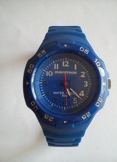 Kup mój przedmiot na #vintedpl http://www.vinted.pl/akcesoria/inne-akcesoria/9819361-niebieski-zegarek-marathon-by-timex