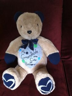 Memory bear created by jacquelyn  www.teddyangels.com