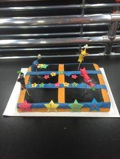 Skyzone trampoline cake w Picmin  Alex's 6th birthday 11-30-14