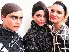 Cara Delevingne, Kendall Jenner, Lily Donaldson, Chanel fall 2015