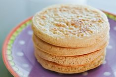 Fantastic sourdough crumpets every time: nicely bubbly at the top, crisp around the edges, and lightly doughy on the inside. Great use of starter surplus!