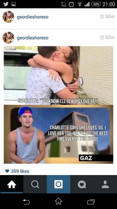 They do love each other Charlotte And Gary, Geordie Shore Charlotte, Love Ya