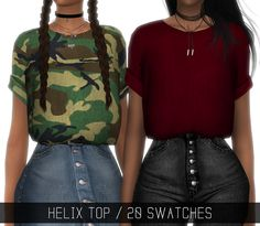 """HELIX TOP""""Tucked in T-shirt with rolled up sleeves"""" • 20 swatches (15 solid colors + 5 patterns); • Has morphs; • HQ mod compatible(pics taken with it!); • Custom Shadow Map; • All LOD's; [ DOWNLOAD ON MY BLOG ] if you use please tag #simpliciaty in..."""