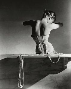 Back Of Model In Corset - Horst P. Horst