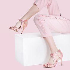 Kicking up my heels because Thursday is almost Friday, so basically it's the weekend, right? Pastel Pink, Pink Purple, Pink White, Pink Fashion, Fashion Outfits, Womens Fashion, Fashion Fashion, Everything Pink, Pink Outfits