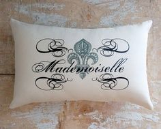 French interior design and architecture  Cute pillow for a bedroom