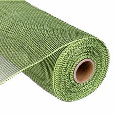 """Deco Poly Mesh® Ribbon Roll Moss Green - Apple Green 10"""" x 10 Yds Synthetic material"""
