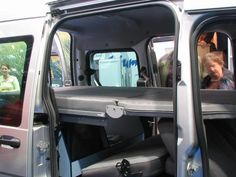 On a rail construction the bed construction is driven forwards. The uppermost mattress from the last photois laid to the back. Ford Transit Camper Conversion, Ford Transit Connect Camper, Camper Beds, Camper Van, Small Cars, Car Wrap, Vw Bus, Conversation, Connection