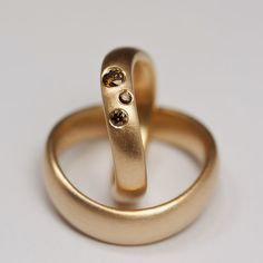 Here are  some of the  wedding rings  I have made. More  can be found via this  link.