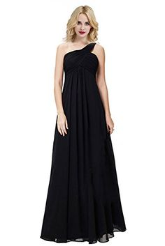 Chic Bride Womans One Shoulder Long Chiffon Wraps Bridesmaid Dresses