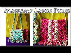 How to Make Handmade Macrame Bag|Simple & unique design|Using wooden stick - YouTube
