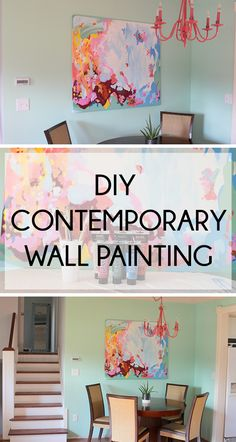 DIY Contemporary Wall Painting