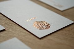 Business cards for Motive, our work : hot stamping, silkscreen, edge foiling