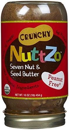 NuttZo Organic Peanut Free Power Fuel Seven Nut & Seed Butter, Crunchy, 16 Oz Seed Butter, Nut Butter, No Bake Desserts, Dessert Recipes, Baking Desserts, Butter Spread, Sweet Notes, Nutritious Meals, Baking Ingredients