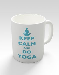 Keep Calm And Do Yoga Novelty Mug by keepcalmstore on Etsy