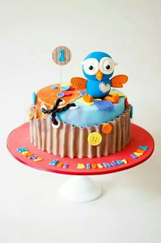 how to make an owl birthday cake boy