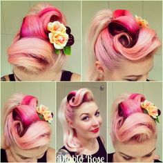 How to Create Rockabilly Hair | If you'd like to learn how I do my victory rolls please visit our ...