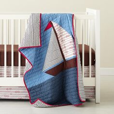 Baby Crib Bedding: Baby Nautical Sailing Crib Bedding in Nursery | The Land of Nod
