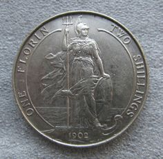 I must have one of these: 1902 British florin, silver. The figure is Britannia, personification of the island of Great Britain. A female warrior archtype. These coins are rare, and pricey. Rare British Coins, Rare Coins, World Coins, Coin Collecting, Old Pictures, Great Britain, 925 Silver, Appreciation, Collections