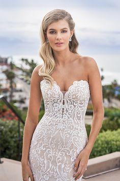 Jasmine - F211056 | Suzanne's Bridal Boutique Dream Wedding Dresses, Wedding Gowns, Lace Wedding, Mermaid Wedding, Jasmine Bridal, Strapless Sweetheart Neckline, Try On, Bridal Lace, Bridal Boutique