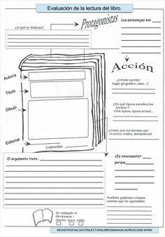 Modelos didácticos para primaria: Evaluación de la lectura de un libro.