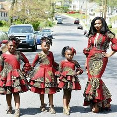 With the introduction of mini-me style looks, being on point with your mini-me requires loads of work and creativity! From matching outfits to matching fashion accessories, your little one can… Baby African Clothes, African Dresses For Kids, African Children, African Print Dresses, African Babies, African Fashion Ankara, Latest African Fashion Dresses, African Print Fashion, Couple Outfits