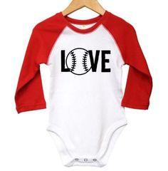 e3a7978c Baby Baseball Onesie Love Baseball Baseball Baby Baseball | Etsy Baseball  Onesie, Gerber Onesies,