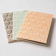 """The """"Domestic Bliss"""" Large Letterpress Notebook Set #stationery #papeterie #papeleria"""